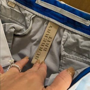 Burberry Brit slim fit gray pants